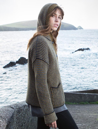Wool Cashmere Button Hoodie