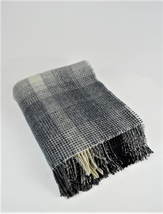 Cashmere Wool Throw - Tonal Grey