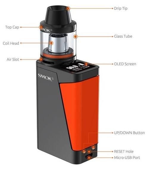 Black Mini 50W Smok H-Priv