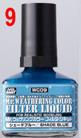 Filter Liquid Blue Gray (WC09) [Mr. Weathering Color Paint]