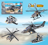 BRICTEK Air Force Special Forces Apache Helicopter 5 In 1.      15711