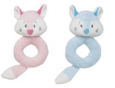 "Ganz Baby 5"" Finley Fox Ring Rattle BG3356 Pink or Blue"