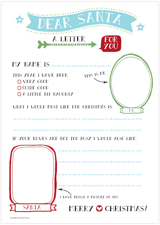 Free printable letter to santa wink design free printable letter to santa spiritdancerdesigns Images