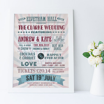 Personalised Music Lovers Print - wedding idea