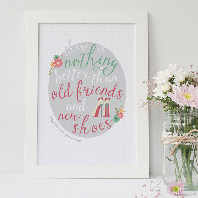 Shoe Lovers Friendship Print