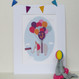 Personalised Children's Elephant Print - mounted