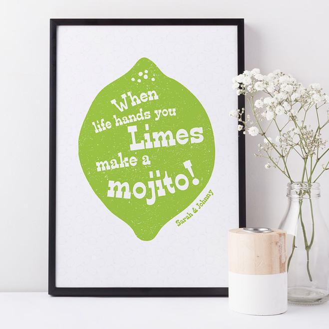 Mojito and Lime Print