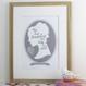 Jane Austen Pride and Prejudice Love Print - Oak Frame - GREY