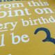 Personalised Funny 29th / 39th / 49th Birthday Card - Yellow - close up