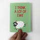 I think a Lot of Ewe Greeting Card