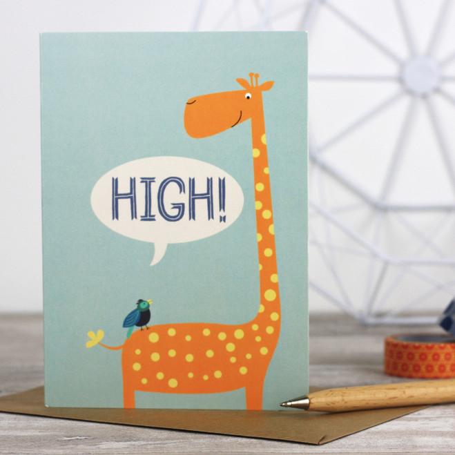 High! Greeting Card