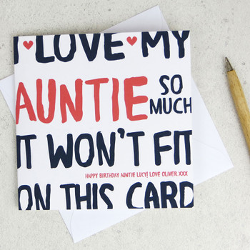 I Love My Auntie So Much Birthday Card by Wink Design