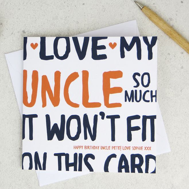 I love my uncle so much birthday card i love my uncle so much funny personalised birthday card m4hsunfo