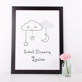 Sweet Dreams Nursery print