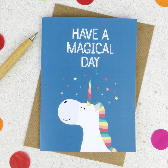 Wink Design Happy Birthday Birthday Card Unicorn Card