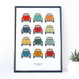 VW Beetle Car Print - personalised