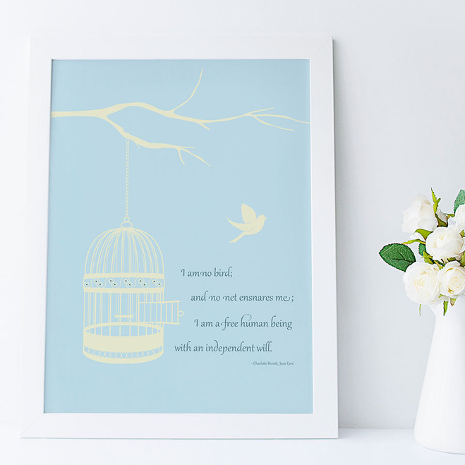 Jayne Eyre Quote Print