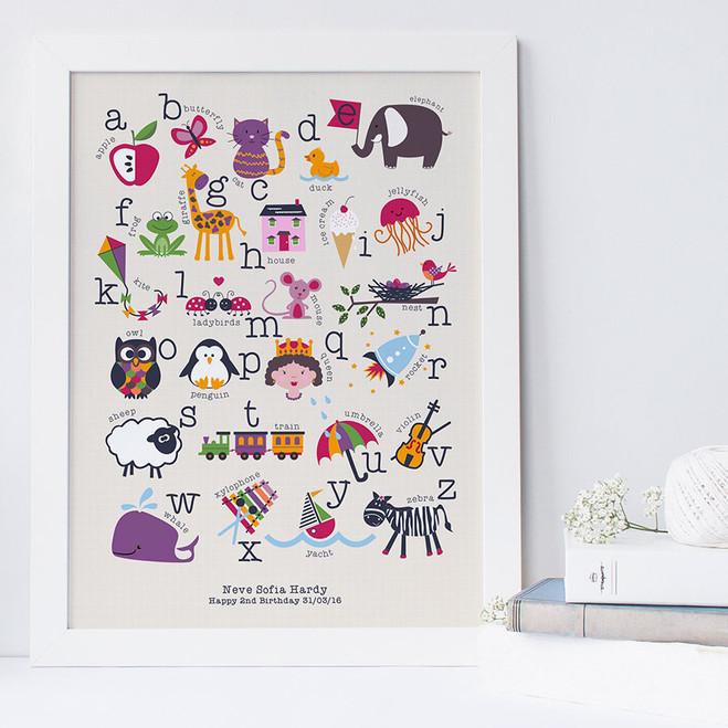 Personalised Children's Alphabet Print