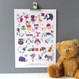 Personalised Children's Alphabet Print - unmounted - two lines of personalisation