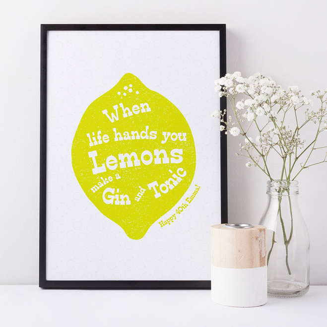 Personalised Gin And Tonic Print