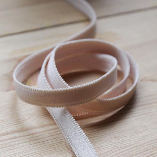 "1/2"" (12mm) Plush Elastic Strapping - Blushy Beige | Blackbird Fabrics"