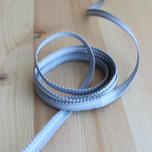 """3/8"""" (9mm) Plush Elastic Strapping - Smoke - 1 meter"""