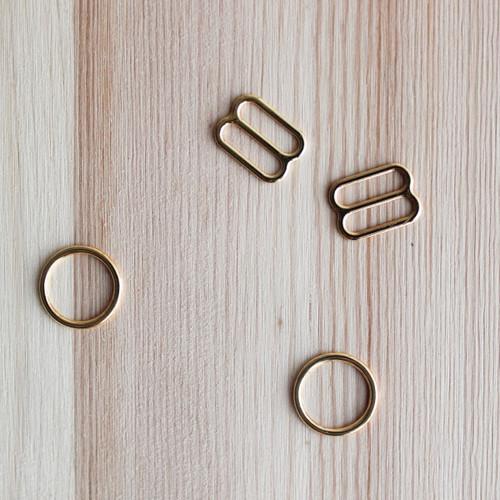 """Rings & Sliders - Gold - 1/2"""" (12mm)"""