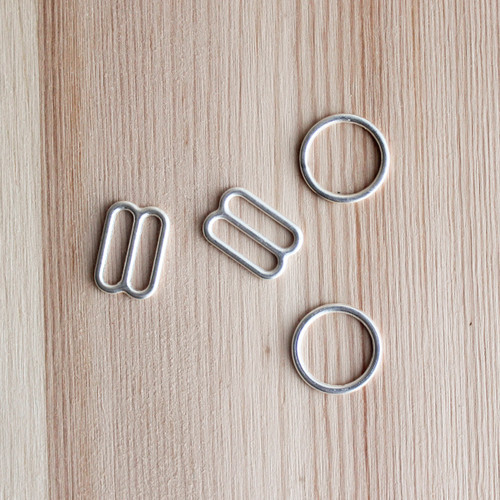 """Rings & Sliders - Silver - 1/2"""" (12mm)"""