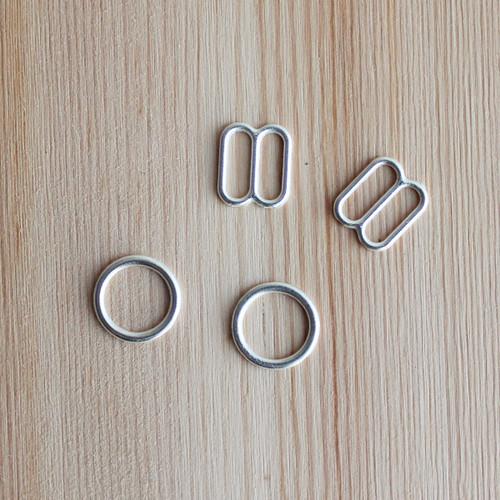 """Rings & Sliders - Silver - 3/8"""" (9mm)"""