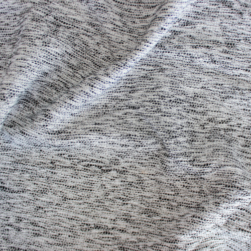 Marble Tweed - White/Black | Blackbird Fabrics