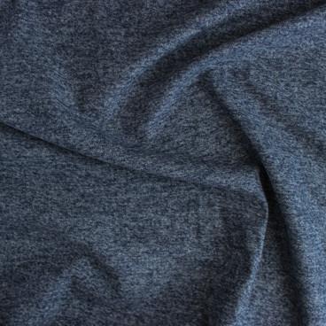 Brushed Cotton Flannel Heathered Grey Blue Blackbird