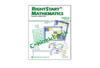 RightStart™ Mathematics Level D Worksheets E-Book