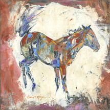 Horses - Oil and Wax - Peach Faced Mare