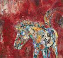 Horses - Oil and Wax - Crazy Horse