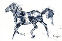 Fox Trot horse painting