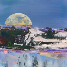 Winter Moon Over Wolf Creek landscape painting