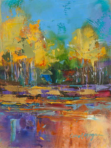 Song of Rock Creek landscape painting