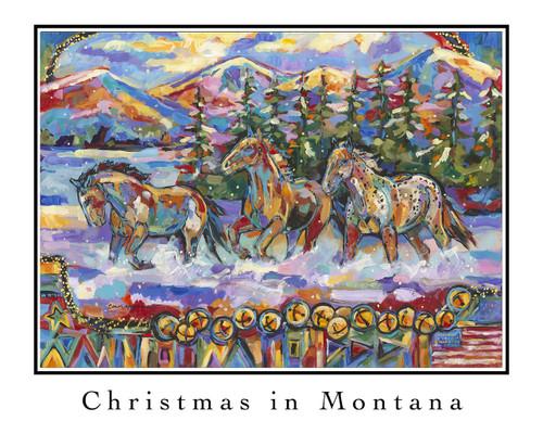 Christmas in Montana 2015 - Lithograph Image