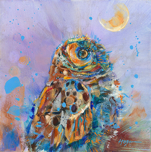 Owlet Dreaming painting