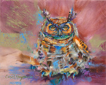 The Owly Owlet painting