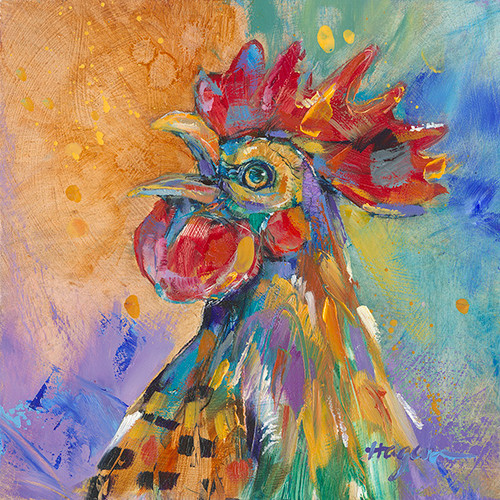 Hot Head rooster painting