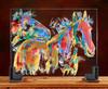 Peach-Faced Love Birds original Glass Horses