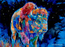 Starry, Starry Night print on metal by Carol Hagan.