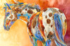 """Daisy's Dots"" print on metal by Carol Hagan."
