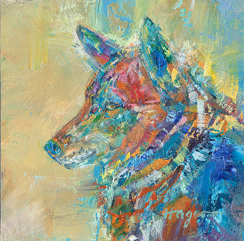 Coyote's Winter Coat original oil