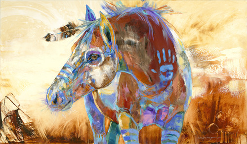 Yellow Dog's War Pony- Horses- Limited Edition