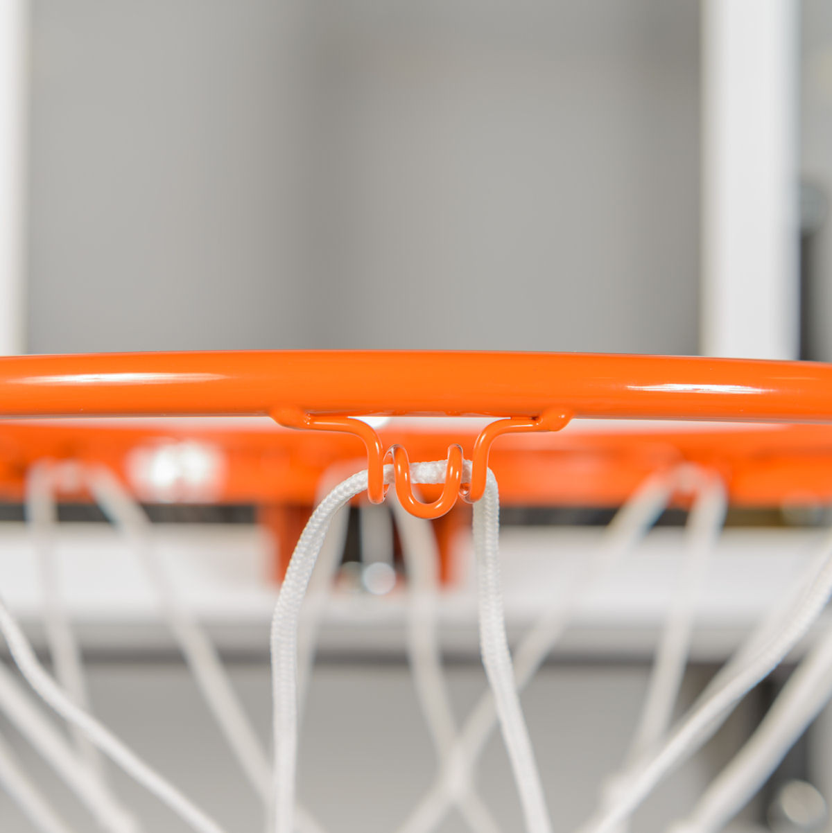 Close up view of rim eyelet for net attachment