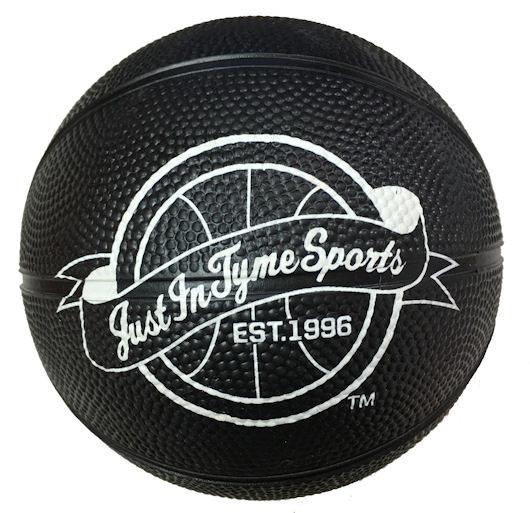 "5"" Rubber Basketball In Black"
