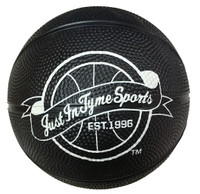 5 Inch Black Rubber Mini Basketball