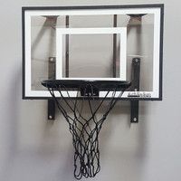 Mini Pro Xtreme Hoop Set with black framing, rim and net.